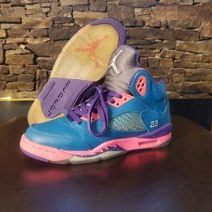 Jordan Retro 5 ' Tropical Teal ' GS Shoes